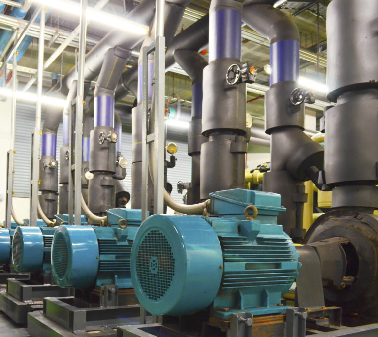 Water-pumping-station-and-industrial-interior-pipes
